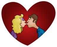 夫妇亲吻 库存例证