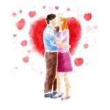 夫妇亲吻 库存图片