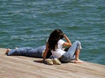 夫妇休息 免版税图库摄影