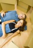 夫妇休息 免版税库存图片