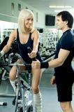 夫妇体育运动 免版税库存图片