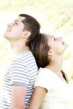 夫妇作梦 免版税库存图片