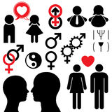 夫妇供以人员集合符号妇女 库存照片