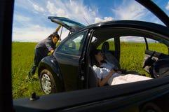 夫妇假期 免版税图库摄影