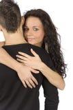 夫妇偎依的年轻人 免版税库存图片