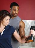 夫妇健身培训人 库存照片