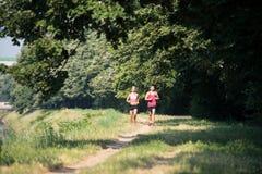 夫妇健身跑步的锻炼健康概念 库存照片