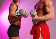 夫妇健身 图库摄影