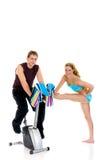 夫妇健身 免版税图库摄影
