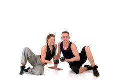 夫妇健身 免版税库存照片