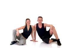 夫妇健身 免版税库存图片