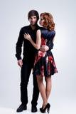 年轻夫妇充分的画象在爱的。 免版税图库摄影