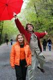 夫妇公园 免版税库存图片
