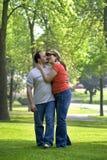 夫妇公园 库存照片