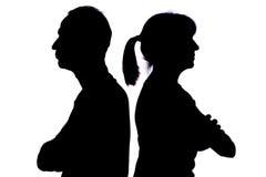 夫妇关系问题 免版税库存照片