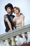 夫妇典雅的年轻人 免版税库存照片