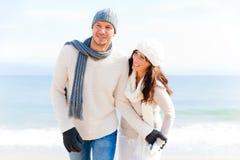 夫妇冬天 库存照片