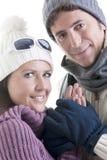 夫妇冬天 图库摄影