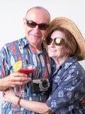 夫妇前辈假期 库存照片