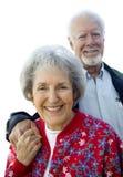 夫妇前辈微笑 库存图片