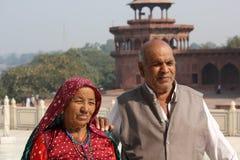 夫妇印地安摆在照片的 图库摄影