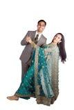 夫妇印第安传统穿戴 免版税库存图片