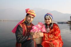 夫妇印第安北部传统 库存图片