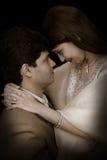 夫妇印第安婚礼 免版税库存图片