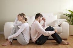 夫妇危机 免版税图库摄影