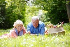 夫妇可爱的前辈 免版税库存图片