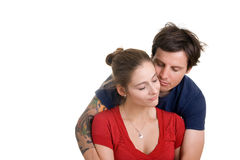 夫妇可爱的年轻人 免版税库存图片