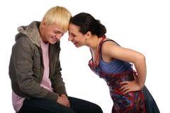 夫妇和平年轻人 免版税库存图片