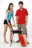 夫妇和BBQ 免版税图库摄影