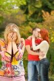 夫妇哭泣的女孩 免版税库存图片