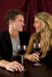 夫妇喝 免版税库存图片