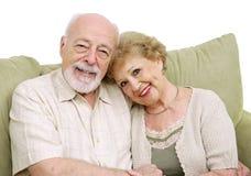 夫妇回家前辈 免版税库存照片