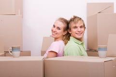 夫妇回家运动的年轻人 免版税库存图片