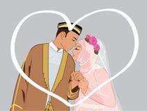 夫妇回教漫画人物 向量例证