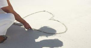夫妇图画心脏形状 影视素材