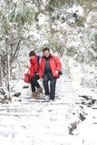 夫妇在公园 免版税库存图片