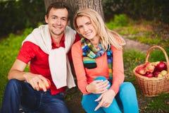 夫妇在公园 库存图片