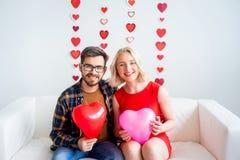 夫妇在情人节 库存图片