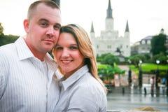 年轻夫妇在新奥尔良 库存照片