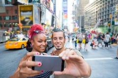 夫妇在纽约 库存图片