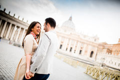 夫妇在罗马 免版税图库摄影