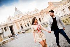 夫妇在罗马 免版税库存图片