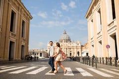 夫妇在罗马 库存照片
