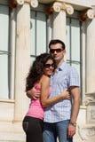 夫妇在雅典执行观光 免版税图库摄影