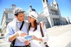 夫妇在马德里 免版税库存照片