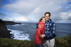 夫妇夏威夷毛伊假期 库存图片